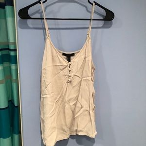 Forever 22 Gray Button Up Tank